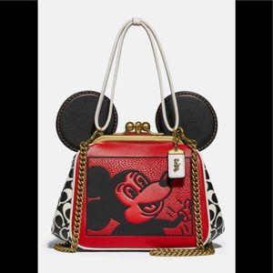 NWT Disney Mickey Mouse Keith Haring Kisslock Bag